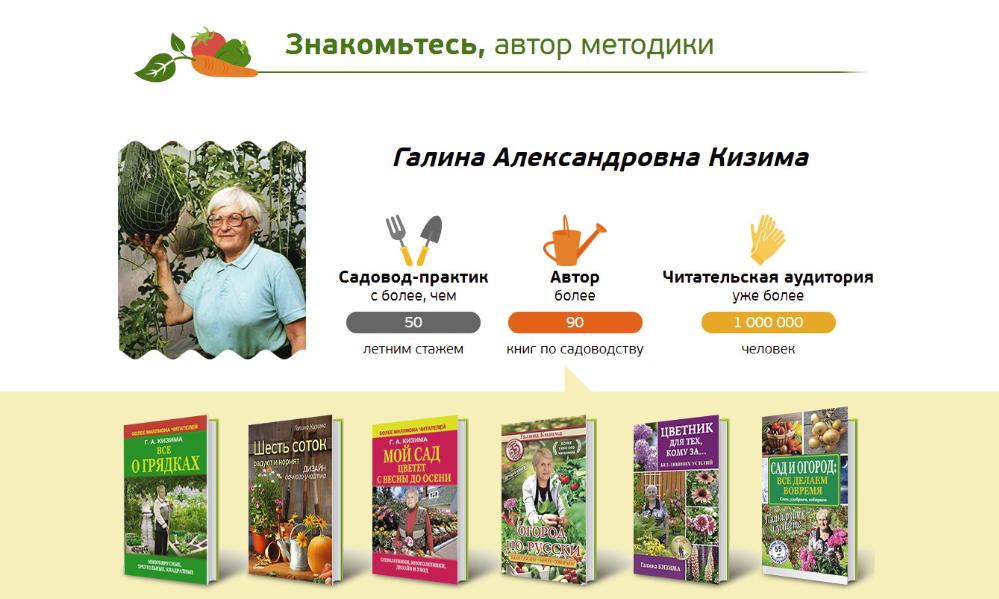 Автор методики Галина Кизима